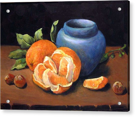 Peeled Orange Acrylic Print