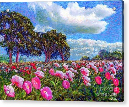 Peony Heaven Acrylic Print