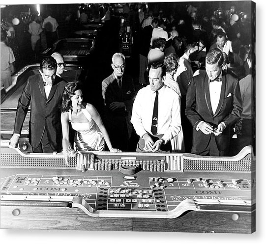 People At Craps Table Acrylic Print