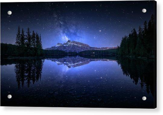 Perfect Two Jack Lake Reflection Acrylic Print