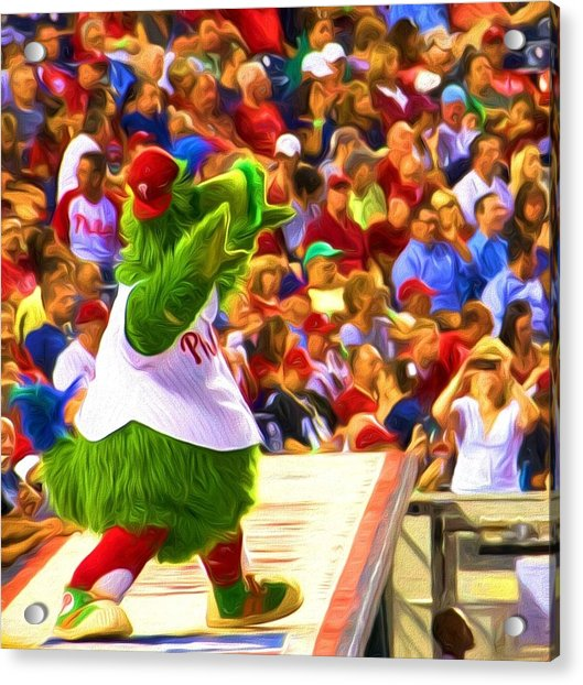 Acrylic Print featuring the photograph Phanatic In Action by Alice Gipson
