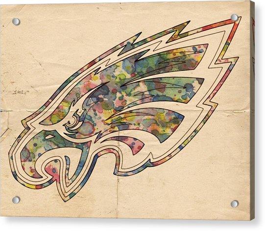 Philadelphia Eagles Poster Vintage Acrylic Print