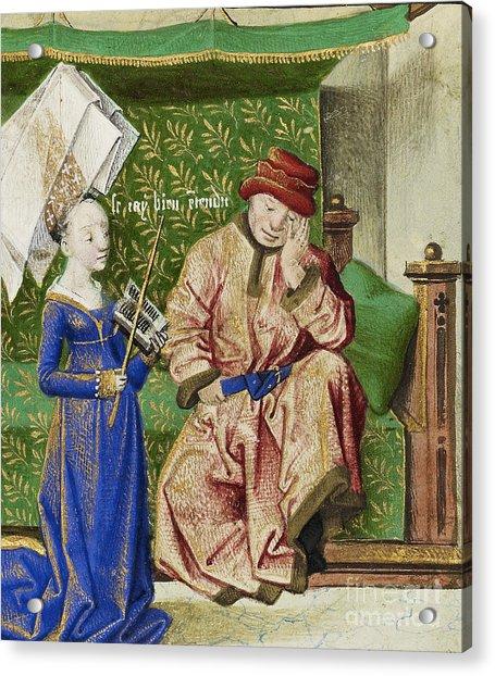 Philosophy Consoling Boethius Acrylic Print