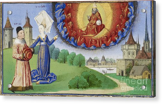 Philosophy Instructs Boethius On God Acrylic Print