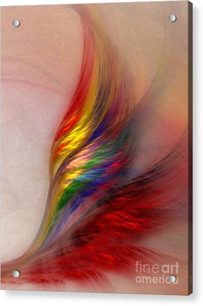 Phoenix-abstract Art Acrylic Print