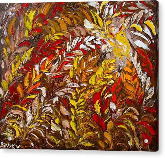 Phoenix Flower Painting Acrylic Print