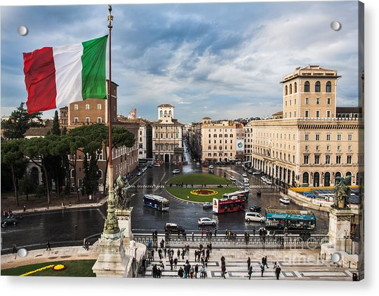 Piazza Venezia Acrylic Print
