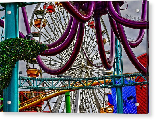 Pier Fun Acrylic Print