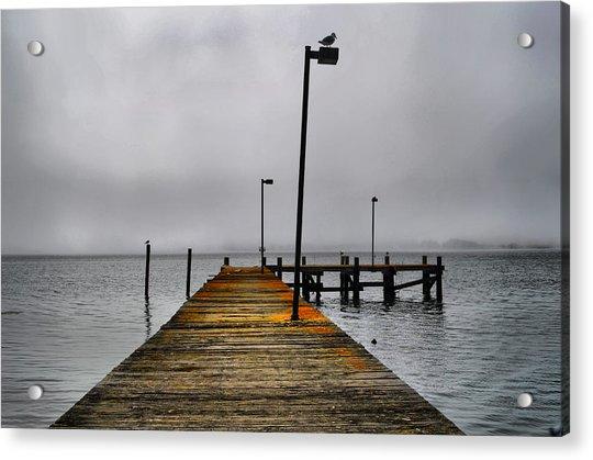 Pier Into The Fog Acrylic Print