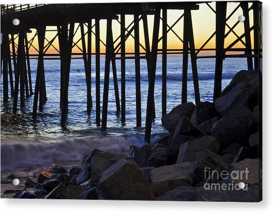 Pier Through  Acrylic Print