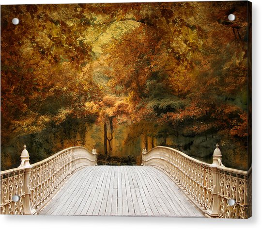 Pine Bank Autumn Acrylic Print
