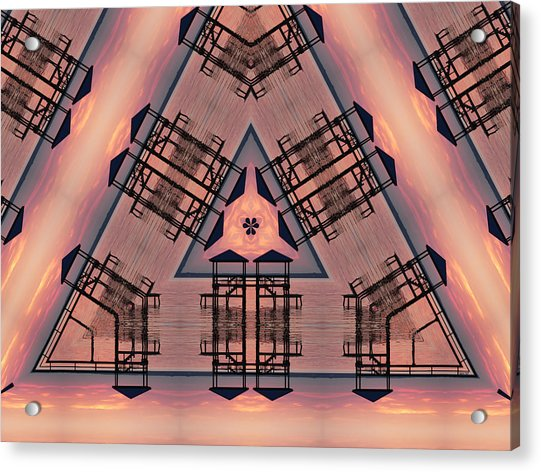 Pink Pier Kaleidoscope One Acrylic Print