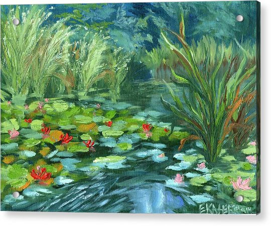 Pink Water Lilies Acrylic Print