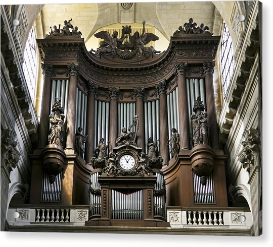 Pipe Organ In St Sulpice Acrylic Print