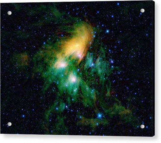 Pleiades Star Cluster Acrylic Print by Nasa/jpl-caltech/ucla/science Photo Library