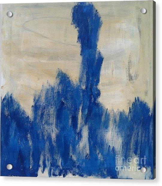 Poetry In Blue Acrylic Print by Bebe Brookman