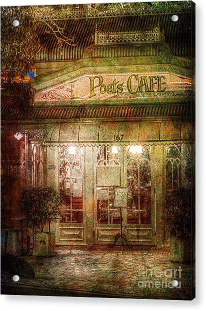 Poet's Cafe Acrylic Print