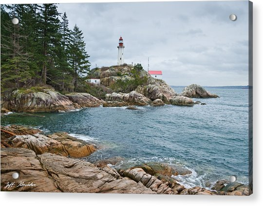 Point Atkinson Lighthouse And Rocky Shore Acrylic Print