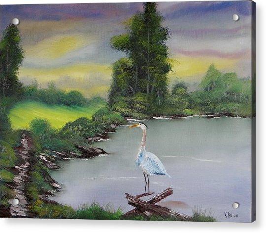 Pond Watching Acrylic Print