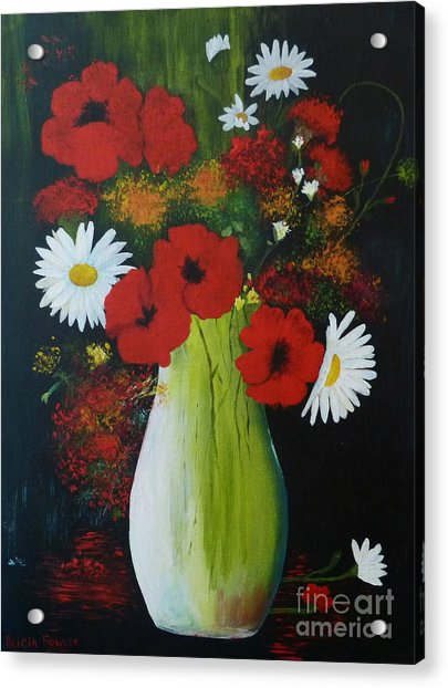 Poppies And Daisies Acrylic Print