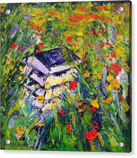 Poppy Field Oil Painting Acrylic Print