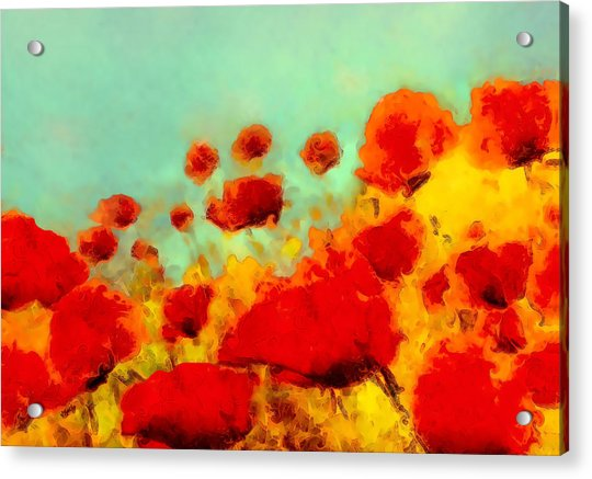 Acrylic Print featuring the painting Poppy Time by Valerie Anne Kelly