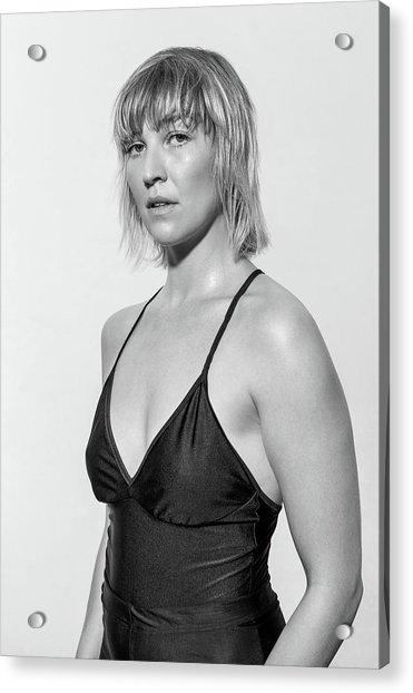Portrait Of Confident Female Ballet Acrylic Print by Luis Alvarez