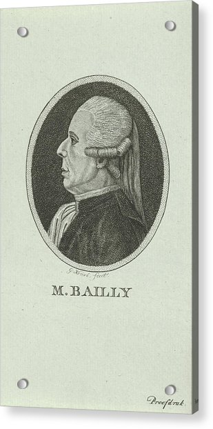 Portrait Of Jean Sylvain Bailly, 1736 - 1793, A French Acrylic Print by Quint Lox