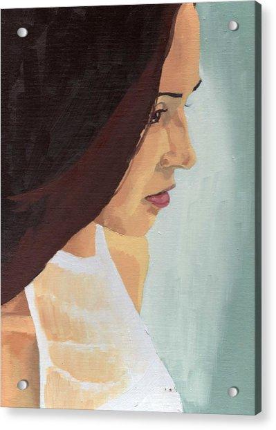 Portrait Of Miranda Acrylic Print by Stephen Panoushek