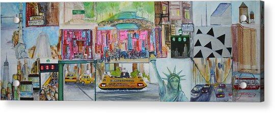 Postcards From New York City Acrylic Print