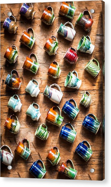 Pottery Cups Acrylic Print