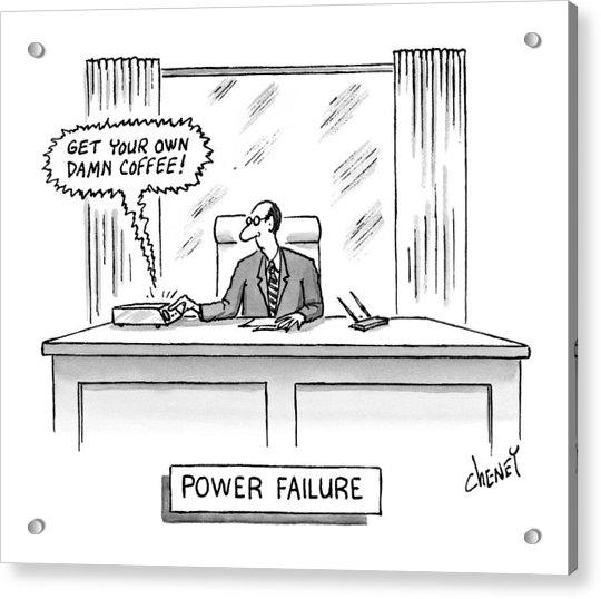 Power Failure Acrylic Print