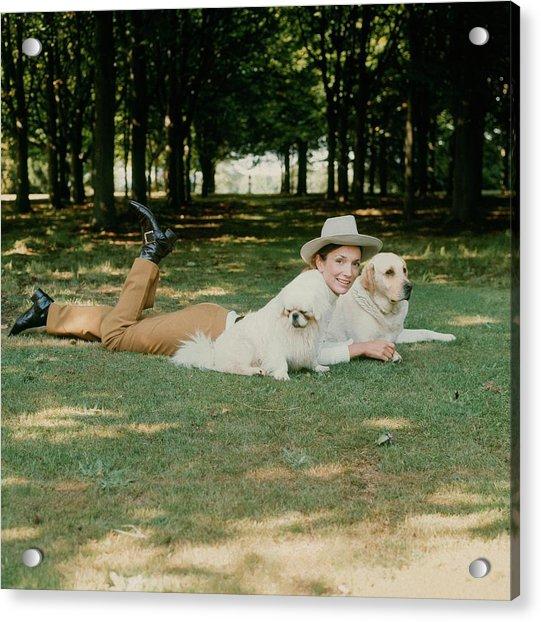 Princess Lee Radziwill With Dogs Acrylic Print