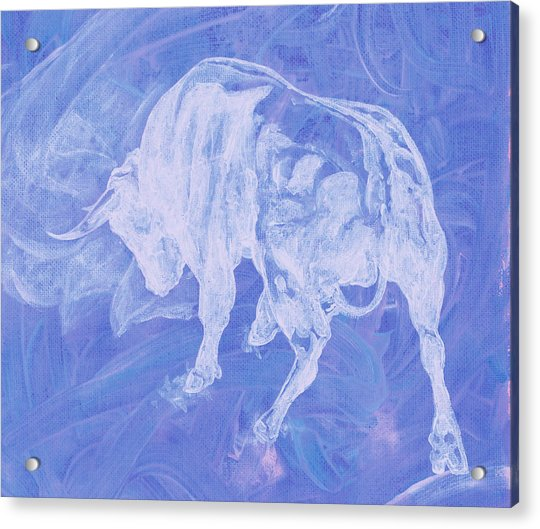 Purple Bull Negative Acrylic Print