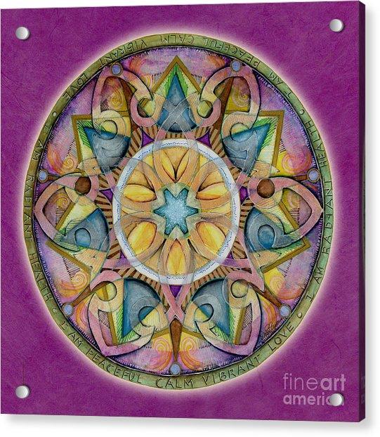 Radiant Health Mandala Acrylic Print