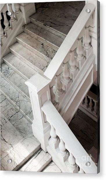 Raffle's Hotel Marble Staircase Acrylic Print