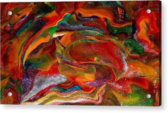 Rainbow Blossom Acrylic Print
