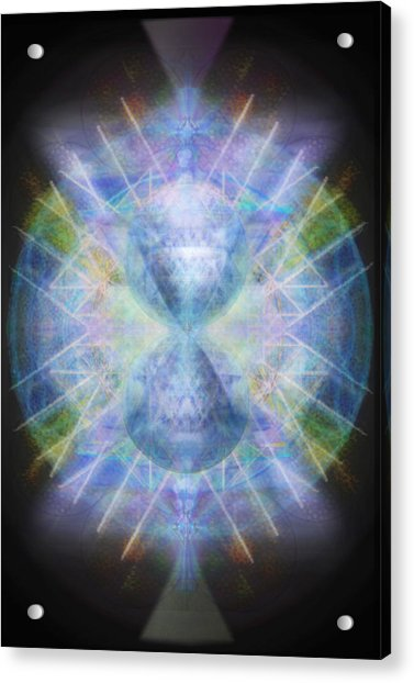 Rainbow Chalice Cell Isphere Matrix Acrylic Print by Christopher Pringer