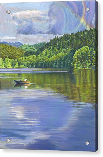 Lake Padden - View From The Alex Johnston Memorial Bench Acrylic Print