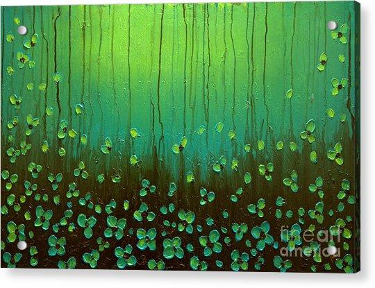 Raining Petals Acrylic Print