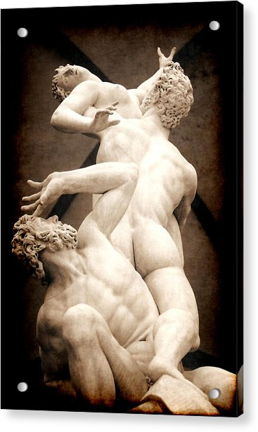 Rape Of The Sabines In Florence Acrylic Print