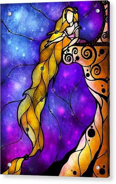 Rapunzel Acrylic Print