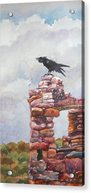 Raven At Hovenweep Acrylic Print