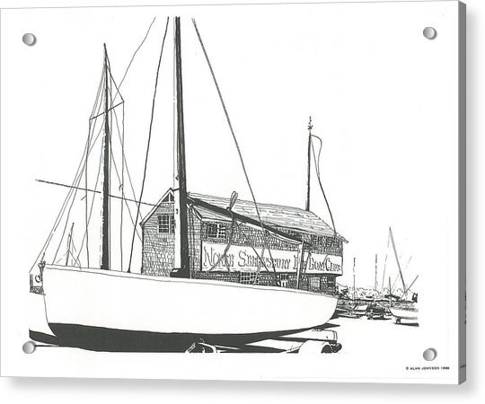 Red Bank Boat Club Acrylic Print