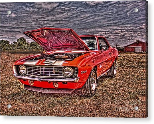Red Camaro Acrylic Print