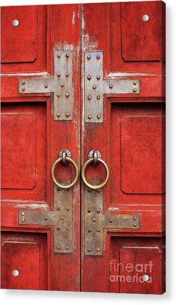 Red Doors 01 Acrylic Print