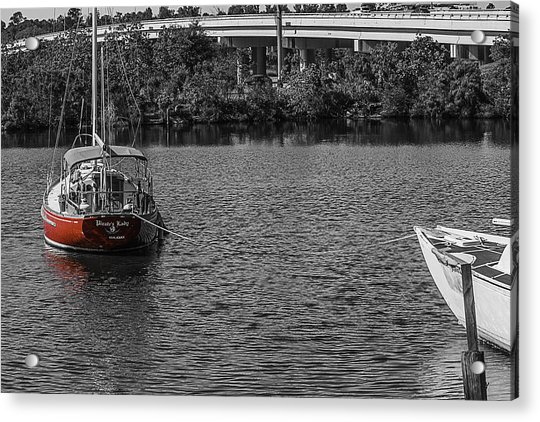 Red E 2 Sail Acrylic Print