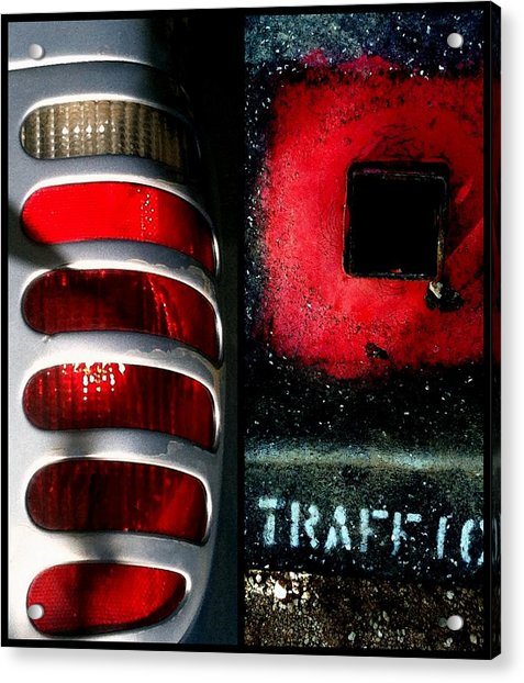 Red Road Rage Acrylic Print