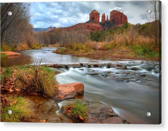 Red Rock Crossing Acrylic Print