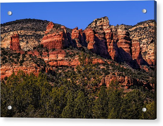 Red Rock Sentinels Acrylic Print